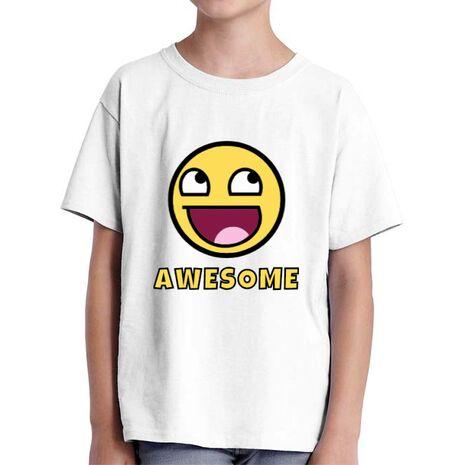 Tricou ADLER copil Awesome Alb