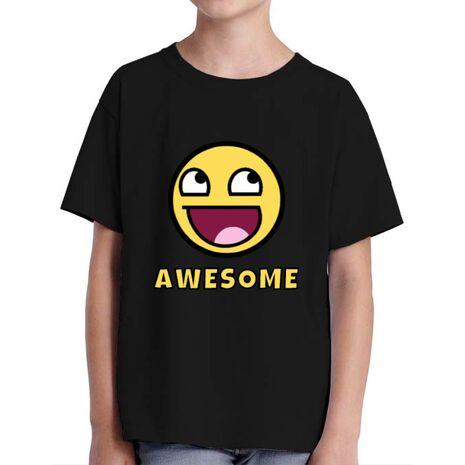 Tricou ADLER copil Awesome Negru