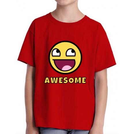 Tricou ADLER copil Awesome Rosu