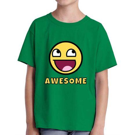 Tricou ADLER copil Awesome Verde mediu