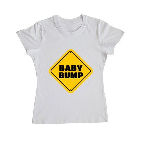 Tricou ADLER dama Baby bump Alb