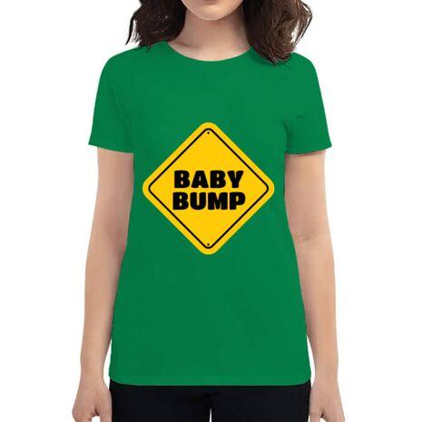 Tricou ADLER dama Baby bump Verde mediu