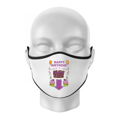 Masca personalizata reutilizabila Make a wish Alb