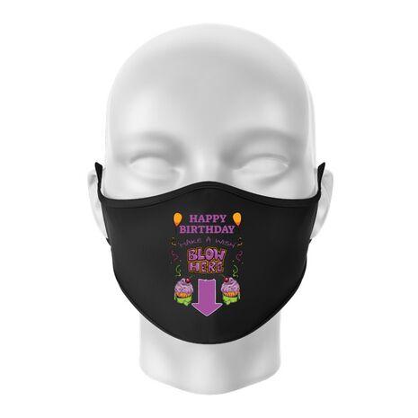 Masca personalizata reutilizabila Make a wish Negru