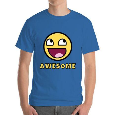 Tricou ADLER barbat Awesome Albastru azuriu