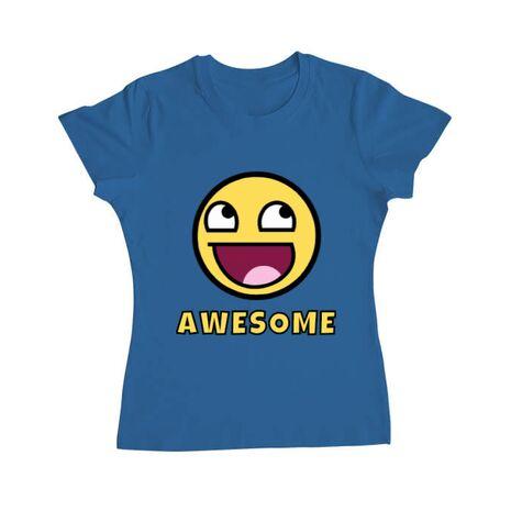 Tricou ADLER dama Awesome Albastru azuriu
