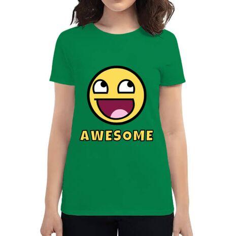 Tricou ADLER dama Awesome Verde mediu
