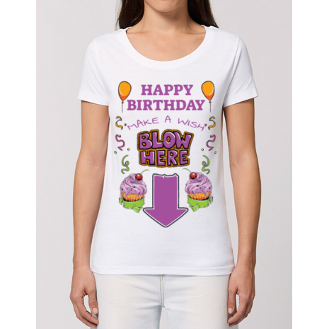 Tricou STANLEY STELLA dama Make a wish Alb
