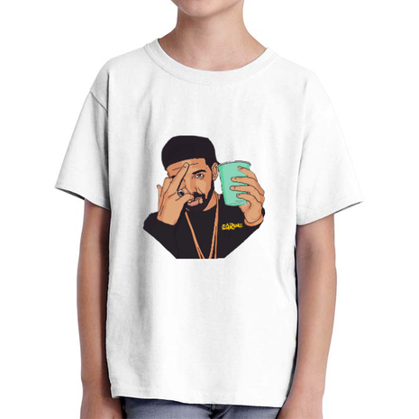 Tricou ADLER copil CARaoke Drake Alb