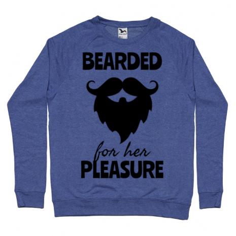 Bluza ADLER barbat Bearded for her pleasure Albastru melanj