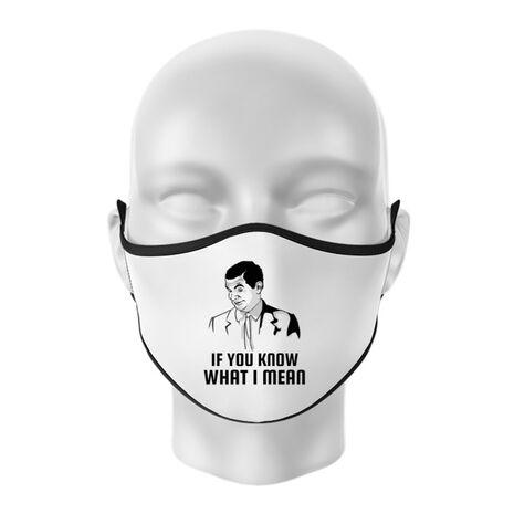 Masca personalizata reutilizabila If you know what i mean Alb