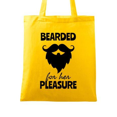 Sacosa din panza Bearded for her pleasure Galben