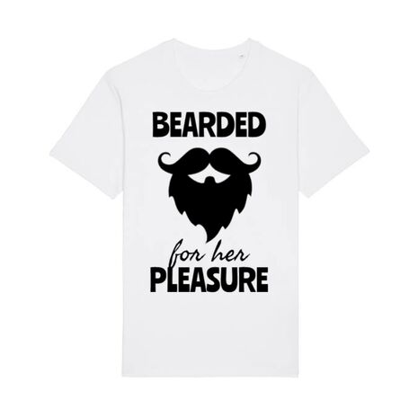 Tricou STANLEY STELLA barbat Bearded for her pleasure Alb
