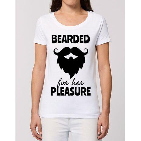 Tricou STANLEY STELLA dama Bearded for her pleasure Alb