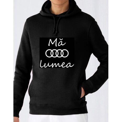 Hoodie barbat cu gluga Audi Negru