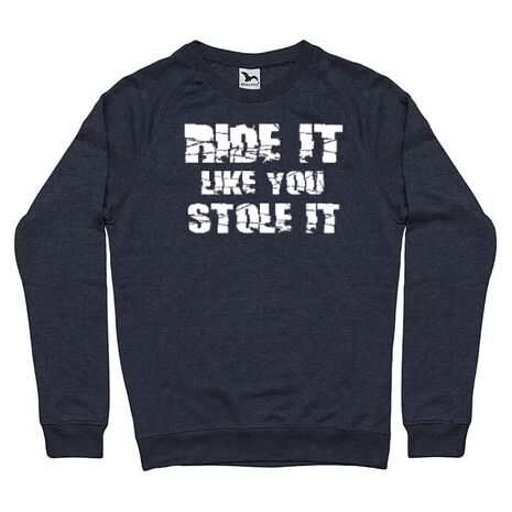 Bluza ADLER barbat Ride it Like you Stole It Denim inchis