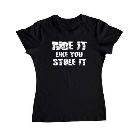 Tricou ADLER dama Ride it Like you Stole It Negru
