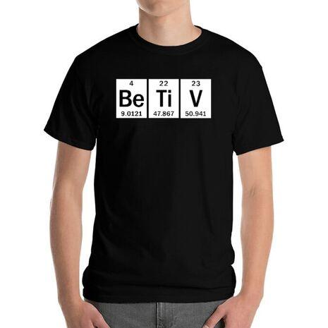 Tricou personalizat barbat Betiv Chimist Negru
