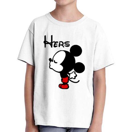 Tricou ADLER copil Hers Mickey Alb