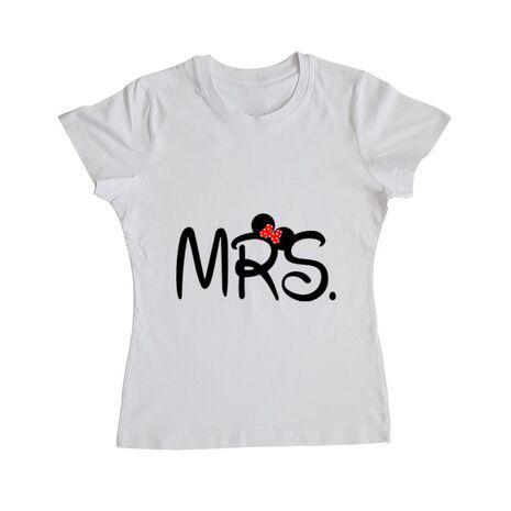 Tricou ADLER dama Mrs Minnie Alb