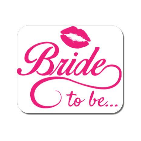Mousepad personalizat Bride to be Alb