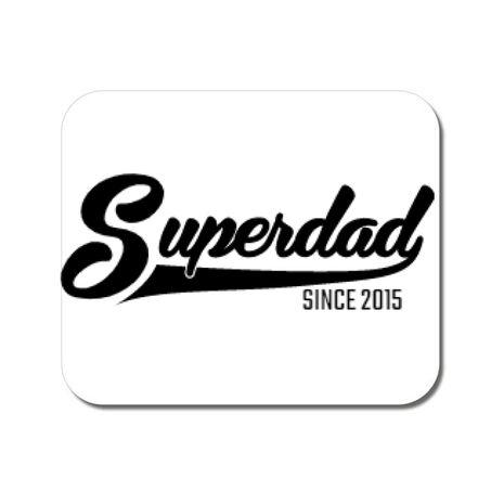 Mousepad personalizat Superdad Alb