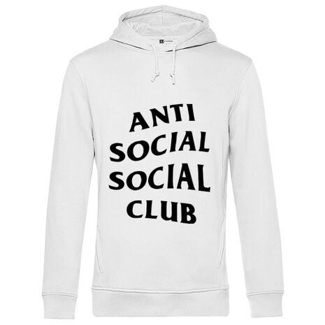 Hoodie barbat cu gluga Anti social Club Alb
