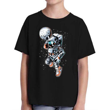 Tricou ADLER copil Astronaut Negru