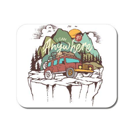 Mousepad personalizat Adventure Alb