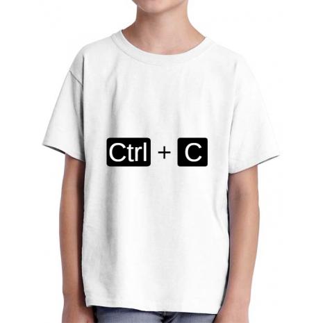 Tricou ADLER copil Ctrl Copy Alb