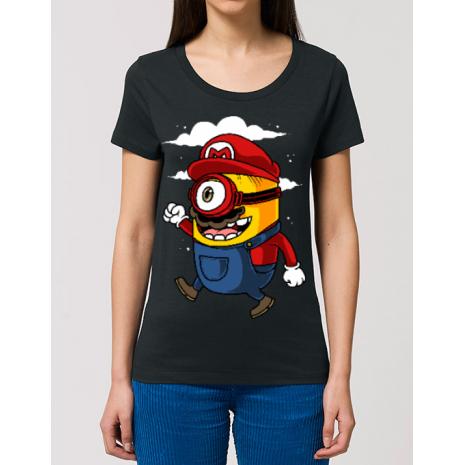 Tricou STANLEY STELLA dama Mario minion Negru