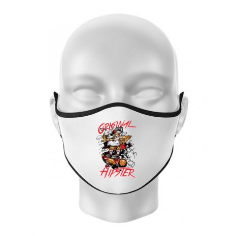 Masca personalizata reutilizabila Original hipster Alb