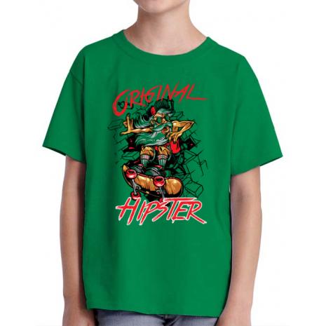 Tricou ADLER copil Original hipster Verde mediu