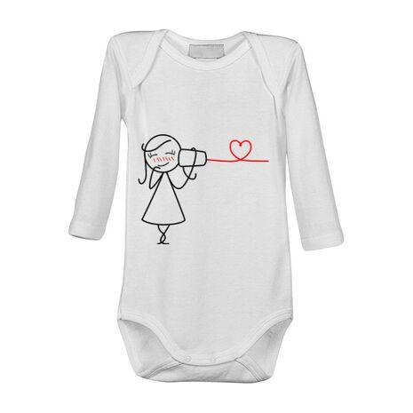 Baby body Cuvinte de dragoste 2 Alb