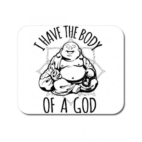 Mousepad personalizat Body of a god Alb