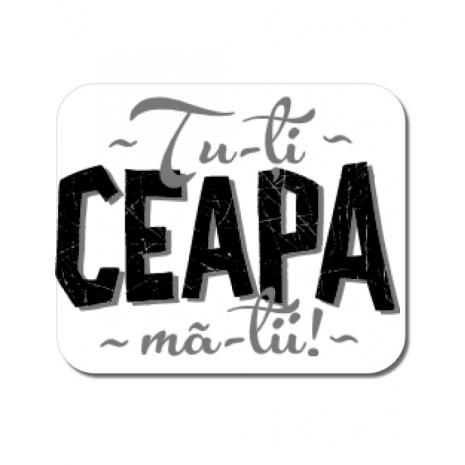 Mousepad personalizat Ceapa ma-tii Alb