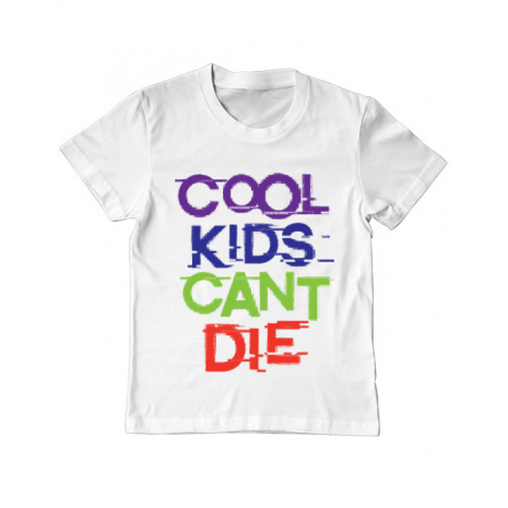 Tricou ADLER copil Cool kids Alb