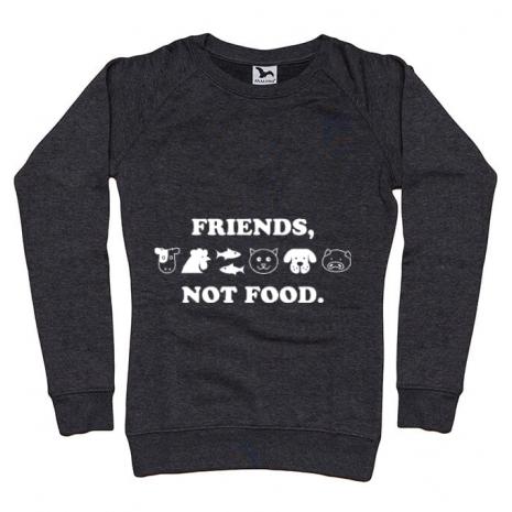 Bluza ADLER dama Friends not food Negru melanj