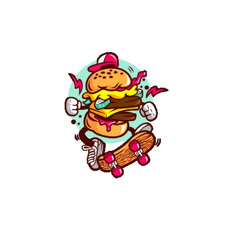 Tricou Burger Skater
