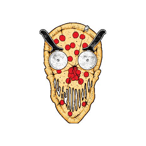 Tricou Pizza skull
