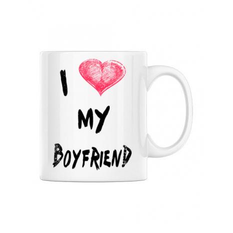Cana personalizata I love my boyfriend Alb