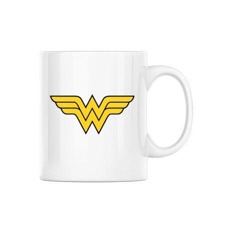 Cana personalizata Wonder woman Alb