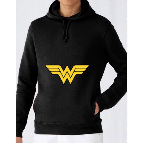 Hoodie barbat cu gluga Wonder woman Negru