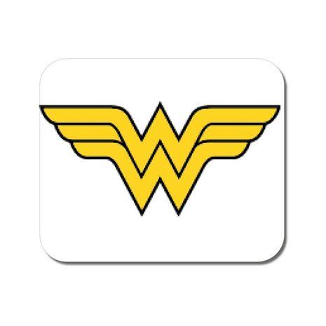 Mousepad personalizat Wonder woman Alb