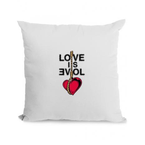 Perna personalizata Love is evil Alb