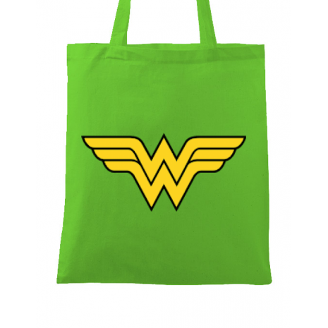 Sacosa din panza Wonder woman Verde mar