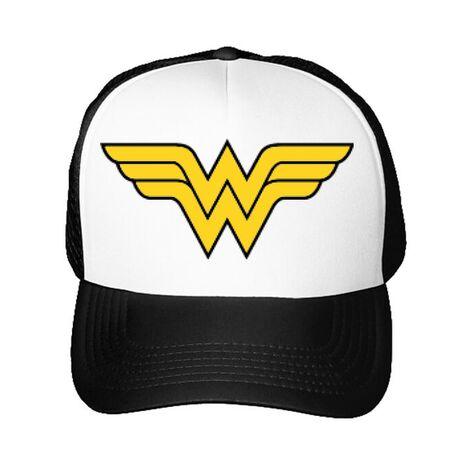 Sapca personalizata Wonder woman Alb