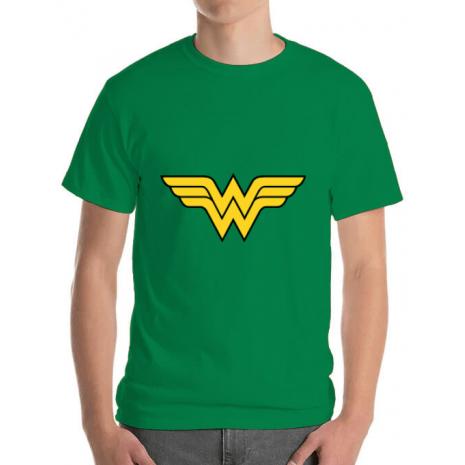 Tricou ADLER barbat Wonder woman Verde mediu