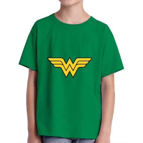 Tricou ADLER copil Wonder woman Verde mediu