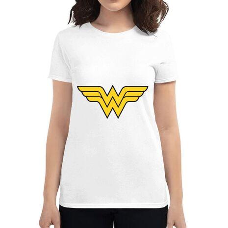Tricou ADLER dama Wonder woman Alb